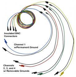 Тест-драйв тест приводит к пику 4-канальный осциллограф