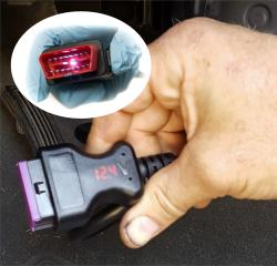 OBD Extension Cable with Voltmeter and Headlight