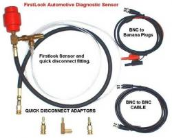 whats the main difference between the first look sensor and the first look diagnostic injector sensor?
