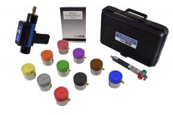 I/M Hand-Held Fuel Cap Tester with 10 Adapters and Pass/Fail Std.